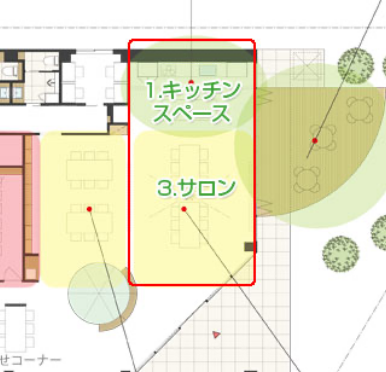 ・レンタルキッチンスペース ・レンタルサロン